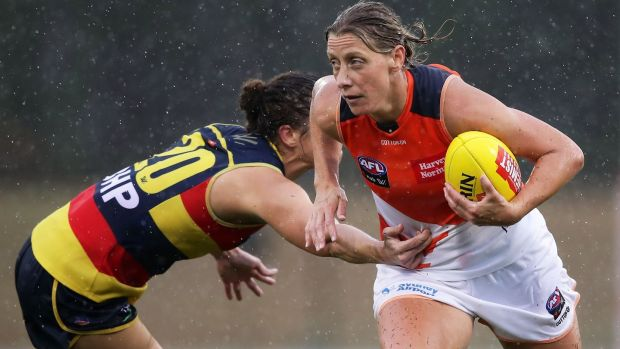 Cora Staunton in action for Greater Western Sydney Giants against Adelaide Crows last February in Sydney. Photograph: Matt King/Getty