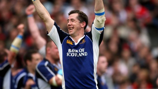 Guy Easterby shows his delight as he celebrates Leinster's 41-35 win in Toulouse in 2006. It ended the French club's 19-game unbeaten run at home in Europe. Photograph: Billy Stickland/Inpho