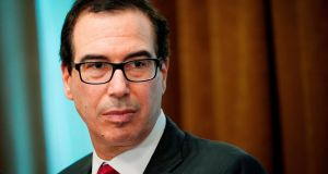 The markets hit session lows  after US treasury secretary Steven Mnuchin (above)  pulled out of a major investment conference in Saudi Arabia. Photograph: Mandel Ngan/AFP/Getty
