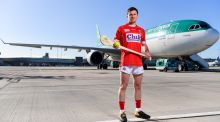 "Daniel Kearney at Dublin Airport helping to launch the Aer Lingus-sponsored Fenway Hurling Classic. ""The ultimate goal is the All-Ireland every year but it's important for the All-Ireland not to be the only metric of success.""  Photograph: Sam Barnes/Sportsfile"