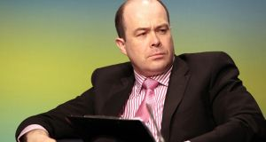 Denis Naughten, former minister for communications, resigned last week over contacts he had with David McCourt of Granahan McCourt, the last remaining bidder for the contract to roll-out rural broadband. File photograph: Brenda Fitzsimons