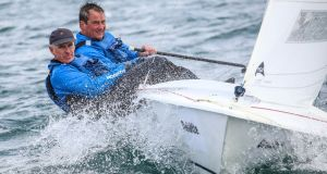 Portaferry Sailing Club's Andrew McCleery and Colin Dougan are one of seven Irish boats to qualify for the 2019 Subaru Flying Fifteen World Championships on Dublin Bay. Photograph: David O'Brien