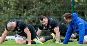 Leinster's Cian Healy takes part in training ahead of their Champions Cup meeting with Toulouse. Photo: Morgan Treacy/Inpho