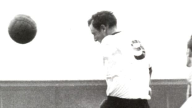 Jimmy Hasty in action for Dundalk. He scored 103 goals in 1709 games for the club from 1960-66.