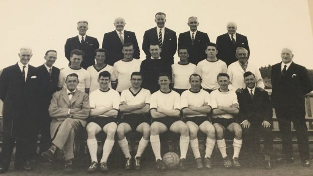Jimmy Hasty, third left on team middle row, on Dundalk's title-winning side of 1962-63