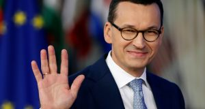 "Poland's prime minister, Mateusz Morawiecki: ""As 80 per cent of the public support these reforms, we will continue them."" Photograph: Yves Herman/Reuters"