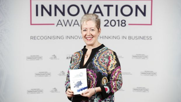 Mias Pharma CEO Ann McGee at the Irish Times Innovation Awards Judging Day 2018. Photograph: Conor McCabe