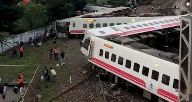 Image result for Taiwan Update: 18 Dead, 175 Injured In Train Derailment