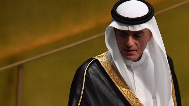 Saudi Arabia foreign minister Adel Ahmed Al-Jubeir. Photograph: Angela Weiss /AFP/Getty Images/File photo