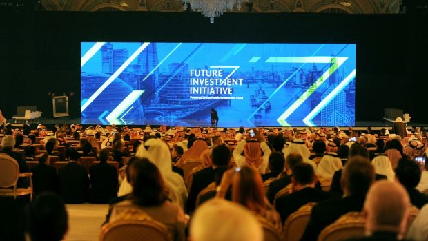 Attendees at the Future Investment Initiative (FII) conference in Riyadh, dubbed 'Davos in the Desert'.