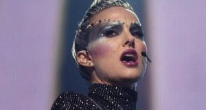 Natalie Portman in Vox Lux: When she finally appears, she's in every scene