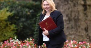 Northern Secretary Karen Bradley: 'We are committed to everything we have agreed to in the joint report and we will ensure there is no border on the island of Ireland.' File photograph: Iain Duncan Smith/EPA
