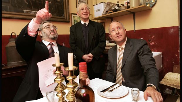 Then Minister for Foreign Affairs DermotAhern, right, with the Chief Rabbi Dr Yaakov Pearlman, left, and Stanley Siev, vice-president of the Irish Jewish Museum in 2005. Photograph: Matt Kavanagh