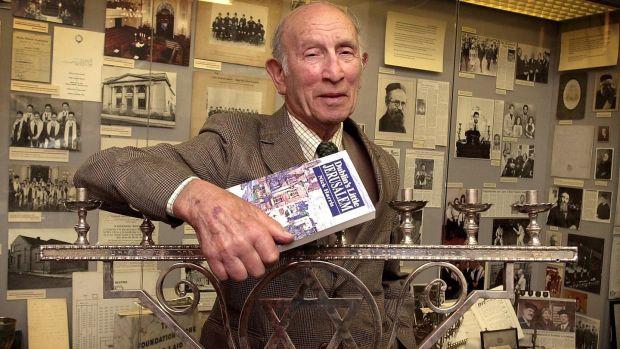Nick Harris, author of a book on the vanishing of Dublin's Jewish Community, in the Irish Jewish Museum on Victoria Road, Dublin. Photograph: David Sleator