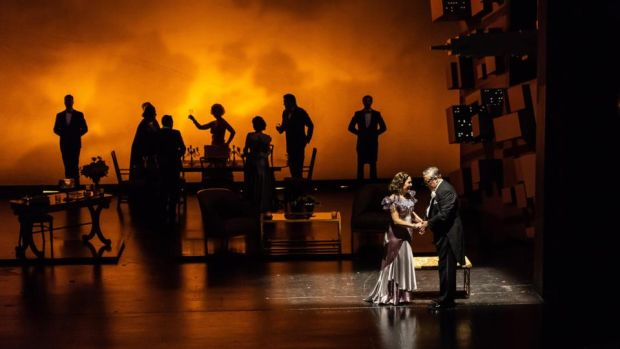 Wexford Festival Opera: Mary Dunleavy and Stephen Powell in Dinner at Eight. Photograph: Clive Barda/ArenaPal