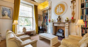 Living room in 41 Upper Leeson Street: house and mews is for sale for €1.35 million
