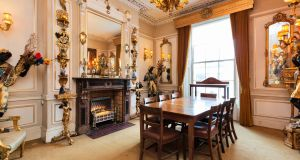 Dining room in 41 Upper Leeson Street: house and mews is for sale for €1.35 million