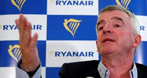 "Ryanair chief executive Michael O'Leary: ""I think we're entering into what I describe this morning as a grim winter."" Photograph: Francois Lenoir/Reuters"