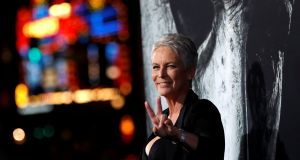 Spooky success: 'Halloween' star Jamie Lee Curtis  at the movie's  premiere in Los Angeles. Photograph: Mario Anzuoni/Reuters
