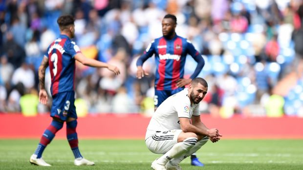 Karim Benzema after the loss to Levante. Photo: Denis Doyle/Getty Images