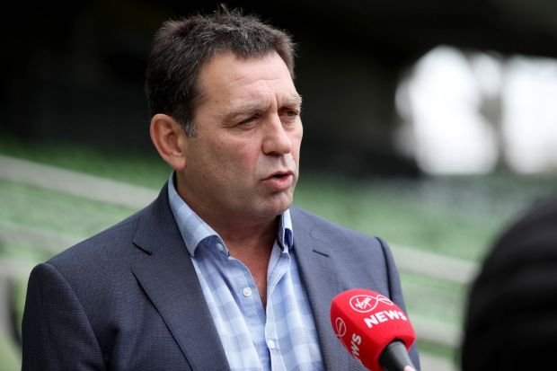 IRFU performance director David Nucifora at a briefing for the union's Strategic Plan, at the Aviva Stadium. Photograph: ©INPHO/Dan Sheridan