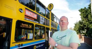 Dublin resident Tony Murray, who is blind, says he faces a tougher commute due to the effects of the BusConnects plan. Photograph: Nick Bradshaw/The Irish Times