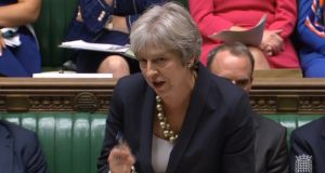 British prime minister Theresa May said an option to extend the post-Brexit transition period beyond December 2020 was one  alternative to the backstop.  Photograph:   PA Wire