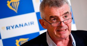 "Ryanair chief executive Michael O'Leary said the risk of a no-deal Brexit had ""risen materially"". Photograph: Laurie Dieffembacq/AFP/Getty Images"
