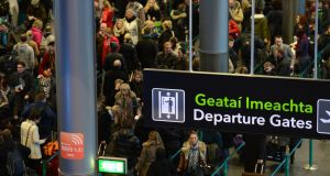 A file photograph of passengers leaving Terminal 2 in Dublin airport. Photograph: Cyril Byrne/THE IRISH TIMES