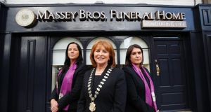 Barbara Fowley, Mary Cunniffe and Susan Maguire of Massey Bros in Dublin. Photograph: Nick Bradshaw