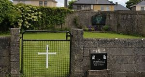 Site of the mass grave for children who died in the Tuam mother and baby home in Galway.