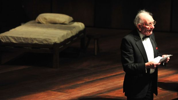 Brian Friel at the official reopening of the Lyric Theatre in Belfast in 2011. Photograph: Colm Lenaghan/Pacemaker
