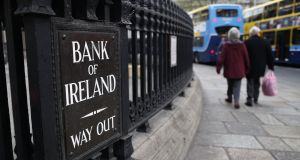 Bank of Ireland secured favourable grades for the quality of its equity capital buffers, return on assets, and information technology  overhaul programme. Photograph:  Peter Muhly/AFP/Getty Images