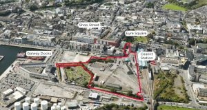 The site of CIÉ's proposed Ceannt Quarter in Galway city centre.