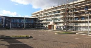 Ardgillan Community College in Balbriggan: school has asked some pupils to stay home over health and safety concerns arising from construction. Photograph: Garrett White