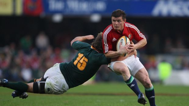 Brian O'Driscoll during the first Test of the 2009 Lions tour to South Africa. Photograph: Billy Stickland/Inpho