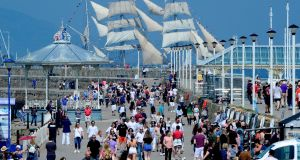 Pier review: Crowds walking on Dún Laoghaire pier last summer.  How did Dún Laoghaire's liberal attitude, once regarded as an outlier, become mainstream?  Photograph: Cyril Byrne/The Irish Times