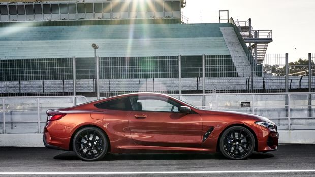 The new BMW 8 Series rides reasonably well over broken ground, but it's a very big car, at nearly 5 metres long and 1.9 metres wide, so it should.