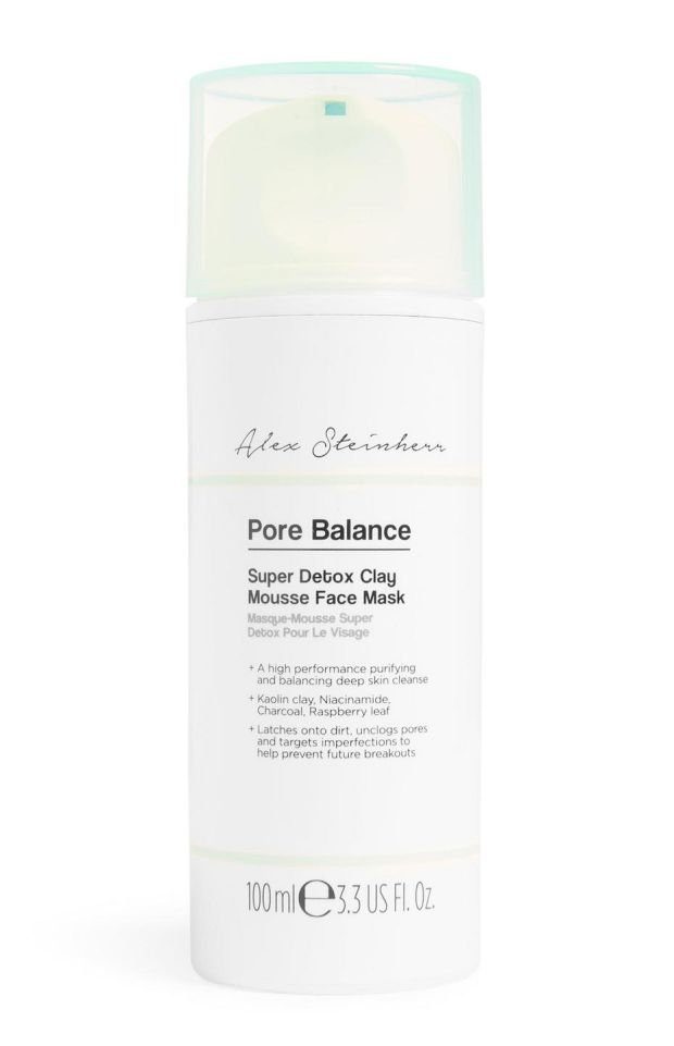Pore Balance Super Detox Clay Mousse Mask.