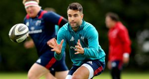 Conor Murray is aiming to return to action by the end of November. Photograph: Ryan Byrne/Inpho