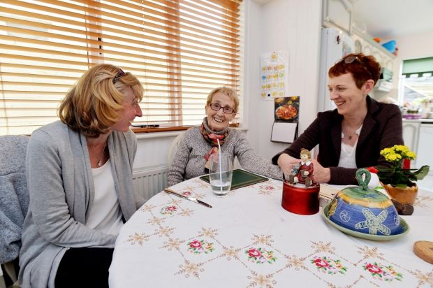 Jenny Hughes (right) is the primary carer for her aunt Philomena Hughes (centre). On left is carer Karon Lammas. Photograph: Alan Betson