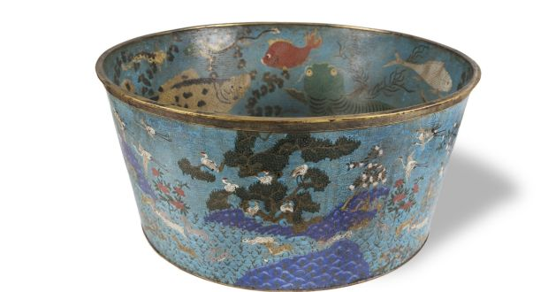 "Lot 93, an enamel fish basin which would ""keep a drowsy emperor awake"""