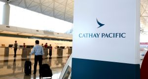 "Cathay Pacific said that it first detected ""suspicious activity"" in March. Photograph: Reuters"