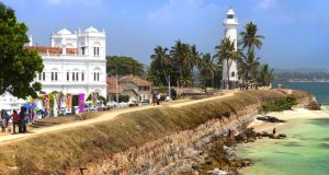 The fortress walls and lighthouse at Galle, Sri Lanka. Photograph: Getty Images