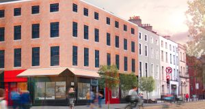 Junction of Dorset Street and Blessington Street. Artist's impression courtesy Kelliher Miller Architects.