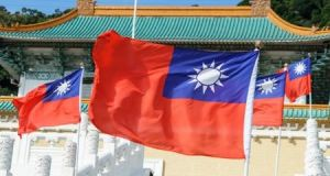 The flag of Taiwan. The Ceann Comhairle said the Taiwan issue 'is a very important one for our Chinese friends'. Photograph: Getty Images