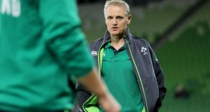 Joe Schmidt's Ireland squad just announced for the four-match November window represents a significant landmark on the road to the 2019 World Cup in Japan. Photograph: Dan Sheridan/Inpho
