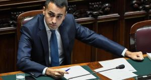 Italian vice premier and labour minister Luigi Di Maio during question time at the Chamber of Deputies, Rome . Photogrpah: Alessandro Di Meo/EPA