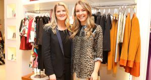 Jenny Huston and Emma Manley at the launch of their Irish design pop-up at   at Dundrum Town Centre