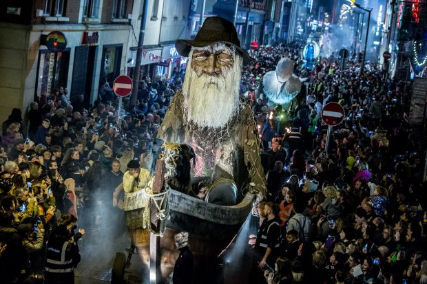 Macnas: the spectacle specialists are staging their Out of the Wild Sky parade in Galway and Dublin. Photograph: Allen Kiely